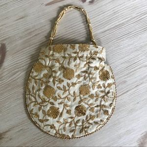 Handbags - Gorgeous Gold and Cream Bag!!! Brand New!!!